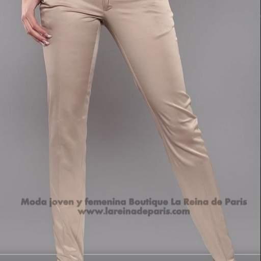 Pantalones brillantes AUM beige