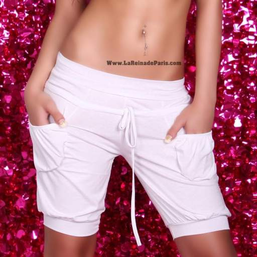 Shorts low cost Blanco [2]