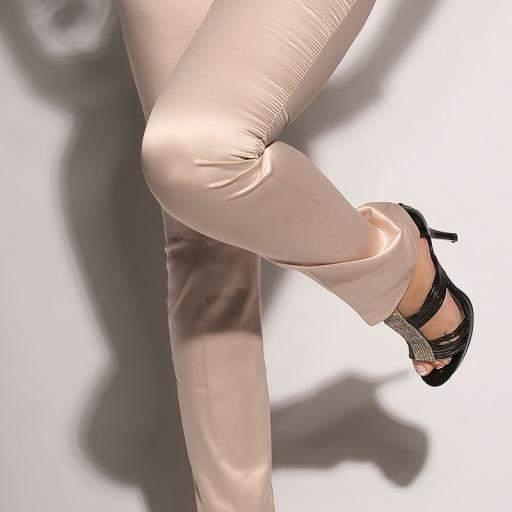 Pantalones beige ajustados oferta [3]