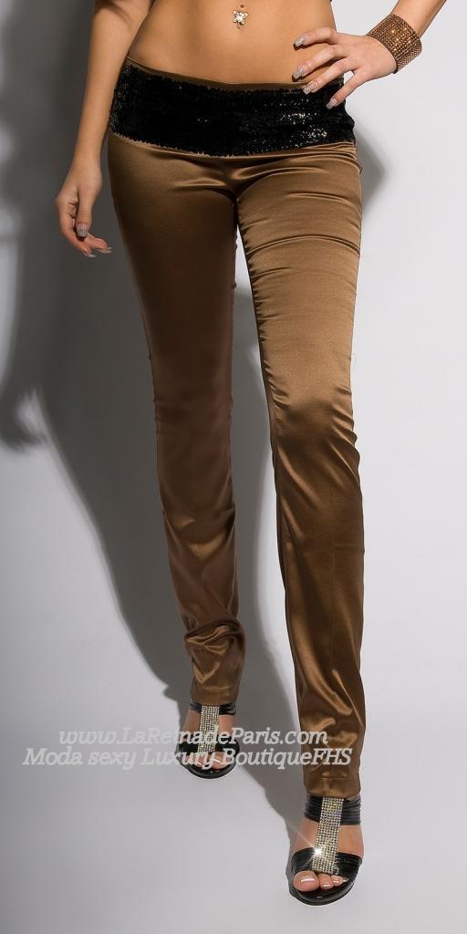 Pantalones ajustados Bronce