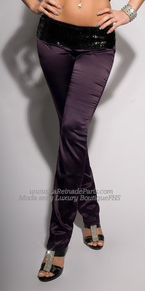 Pantalones ajustados Lila oferta