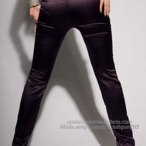 Pantalones ajustados Lila oferta [2]