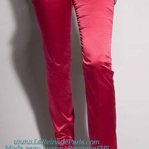 Pantalones ajustados Fucsia Oferta