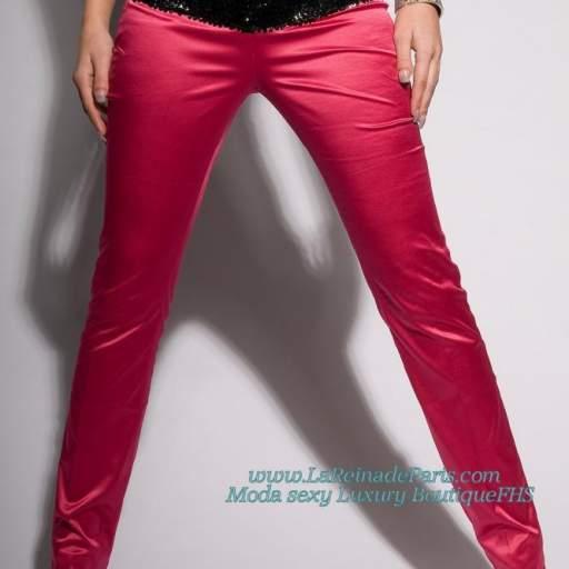 Pantalones ajustados Fucsia Oferta [1]