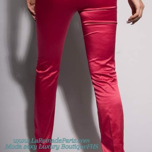 Pantalones ajustados Fucsia Oferta [2]