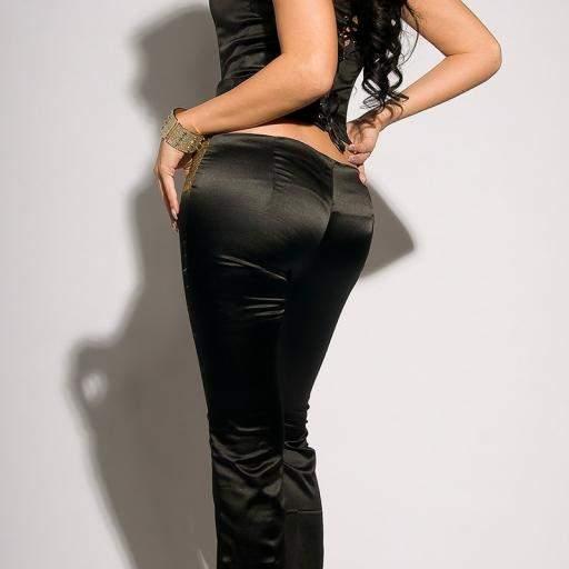 Pantalones negros ajustados Oferta [2]