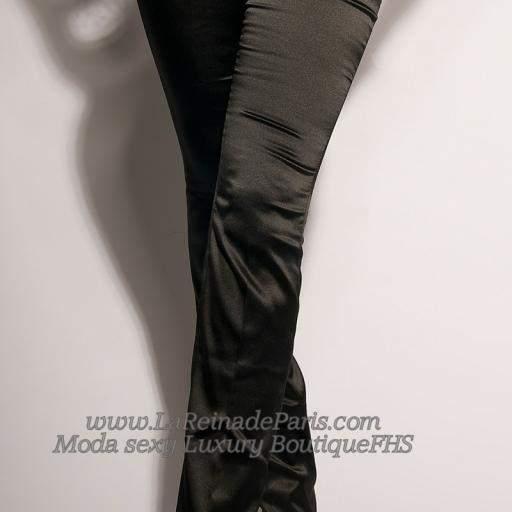 Pantalones negros entallados Oferta