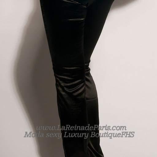 Pantalones negros entallados Oferta [1]