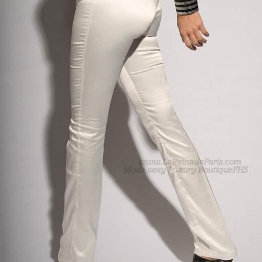 Pantalones blancos ajustados Oferta [2]