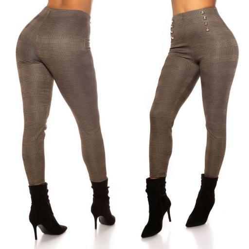 Pantalón ajustado low cost capuchino  [1]