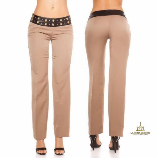 Pantalones rectos capuchino [1]