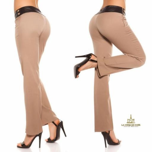 Pantalones rectos capuchino [2]