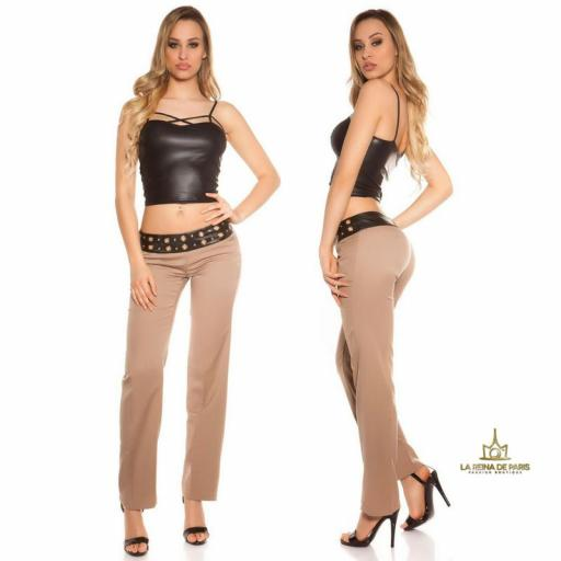 Pantalones rectos capuchino [3]