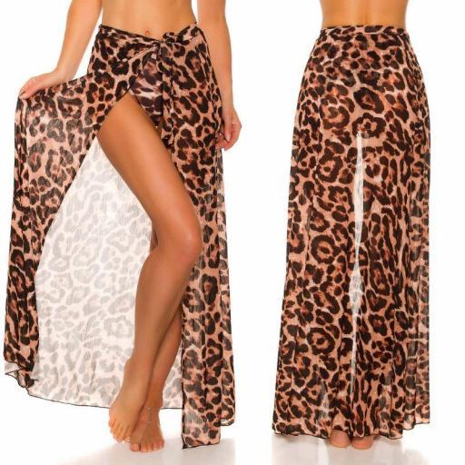Pareo de tul leopardo [1]