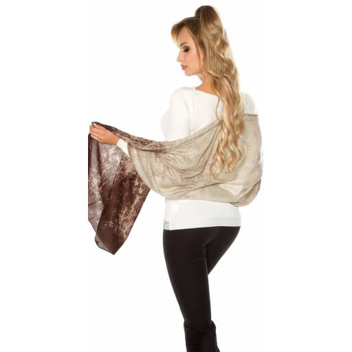 Pañuelo bufanda oversize marrón [3]