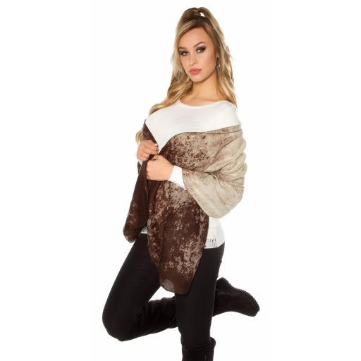 Pañuelo bufanda oversize marrón [1]