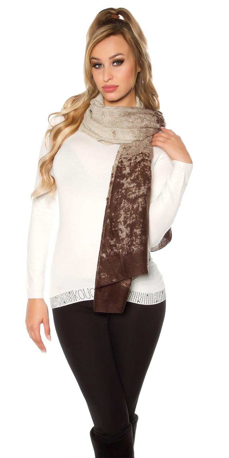 Pañuelo bufanda oversize marrón