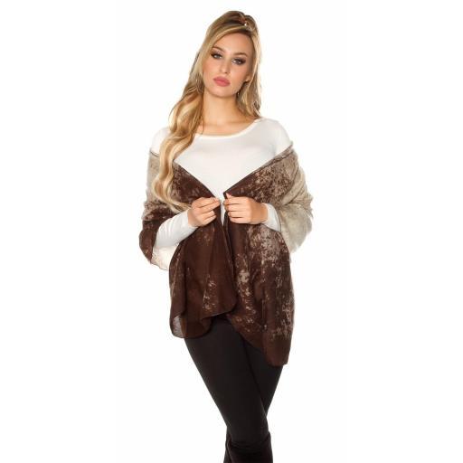 Pañuelo bufanda oversize marrón [2]