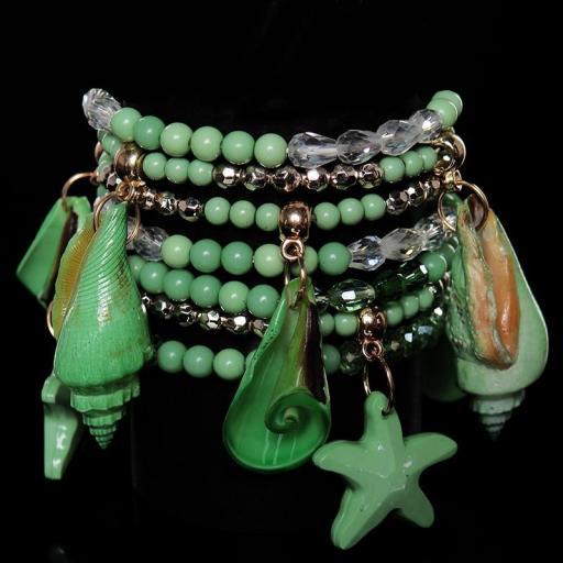 Pulsera de mar verde