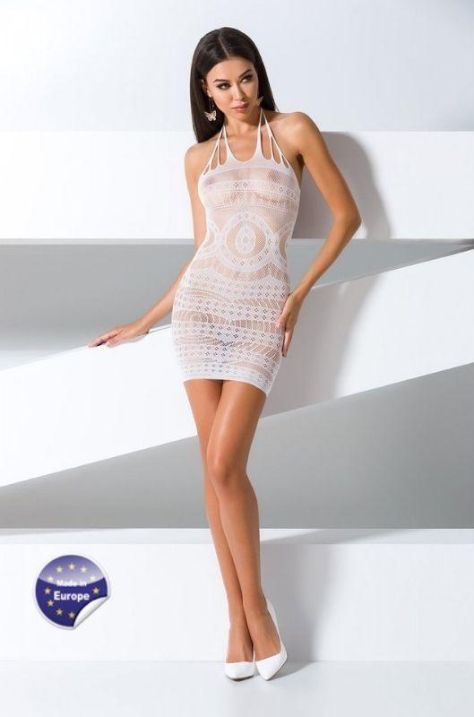 Vestido blanco erótico de malla