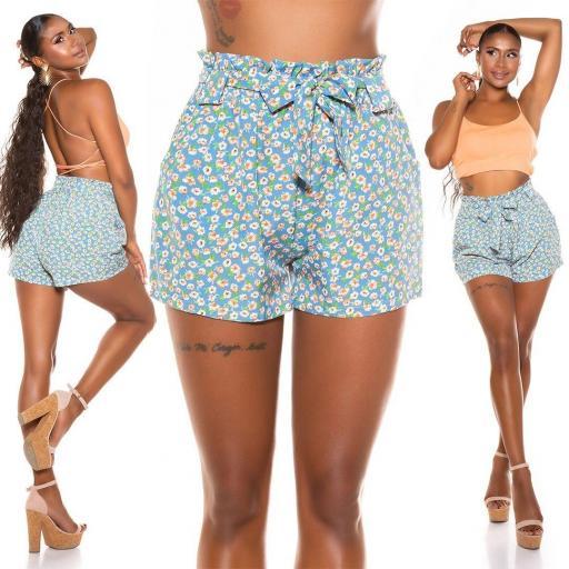 Short moda verano azul