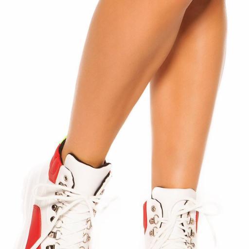 Sneakers blanco y rojo