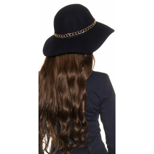 Sombrero con cadena decorativa azul [1]