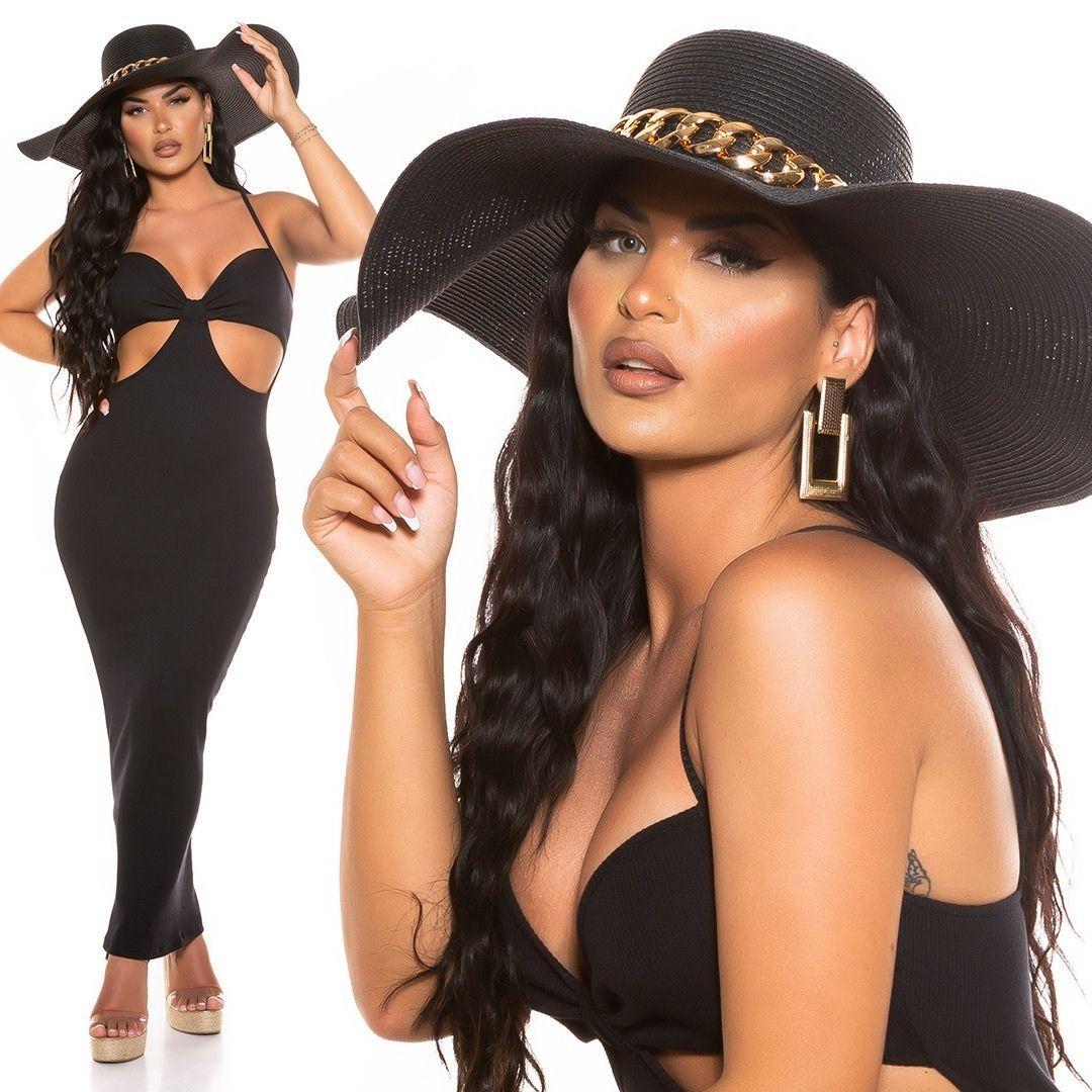 Sombrero elegante de verano negro
