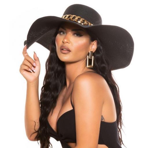 Sombrero elegante de verano negro [1]
