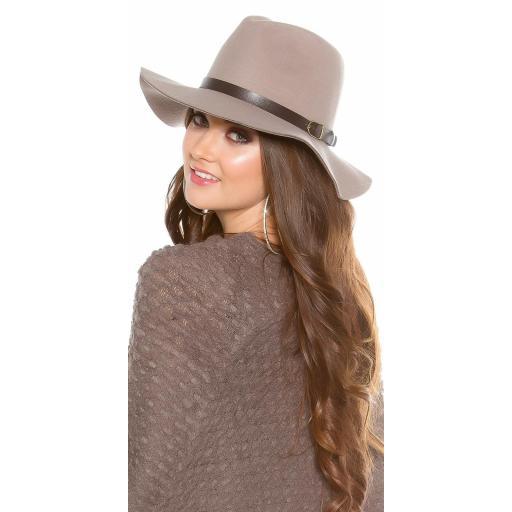Sombrero boho de fieltro color gris [1]