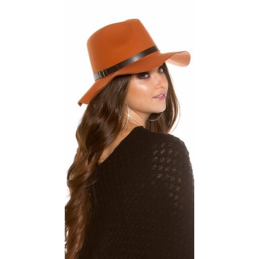 Sombrero boho de fieltro color ocre [1]