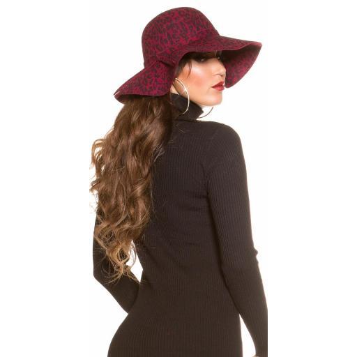 Sombrero animal print burdeos [3]
