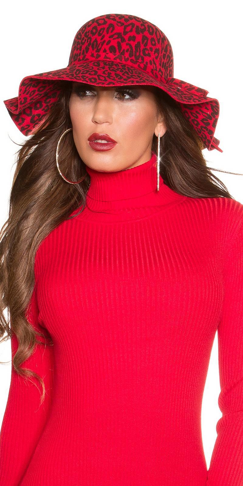 Sombrero animal print rojo