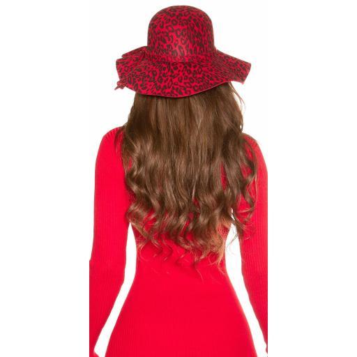 Sombrero animal print rojo [1]
