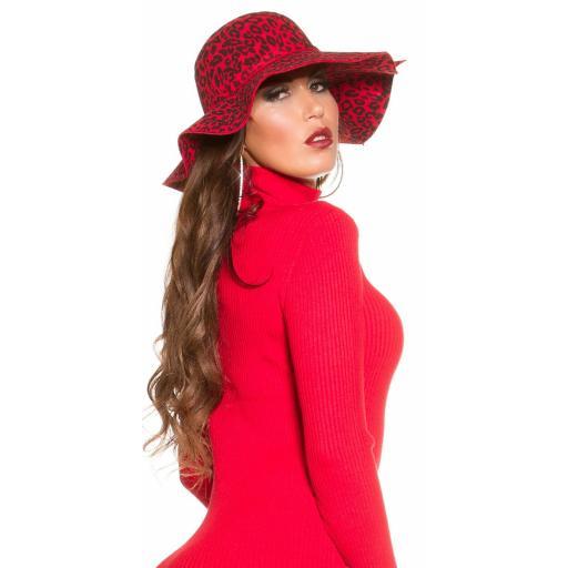 Sombrero animal print rojo [3]