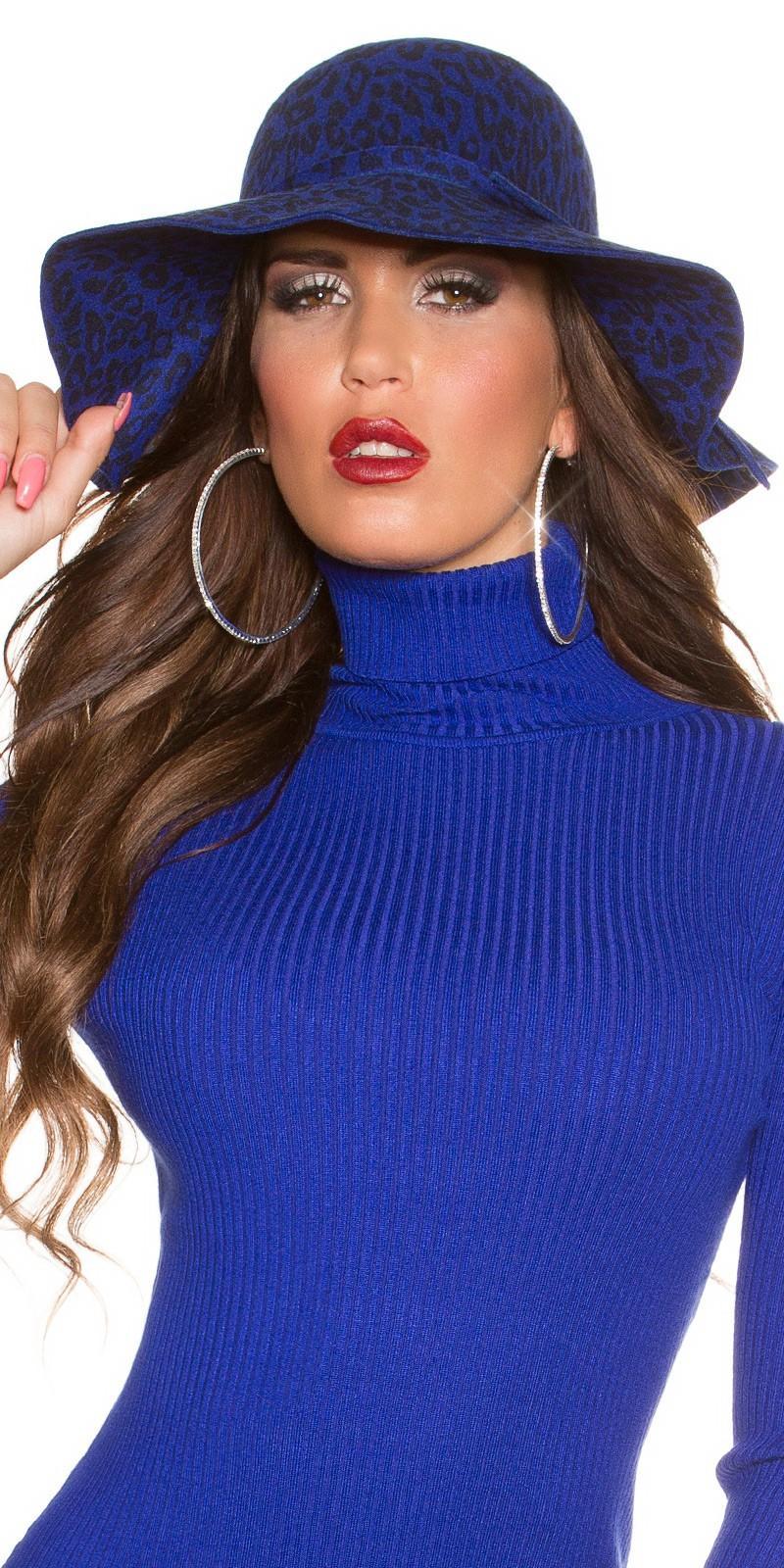 Sombrero animal print azul