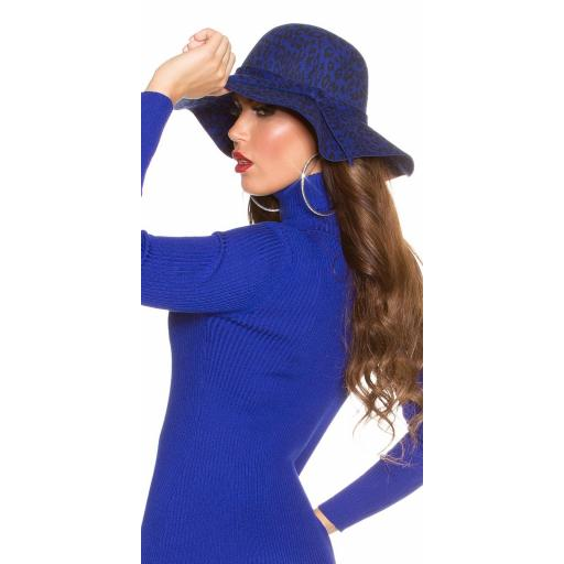 Sombrero animal print azul [1]