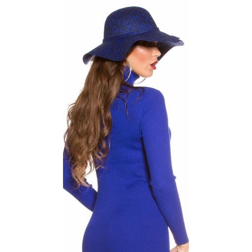 Sombrero animal print azul [2]