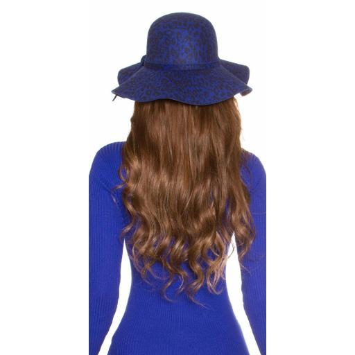 Sombrero animal print azul [3]