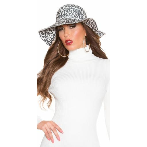 Sombrero animal print blanco [1]