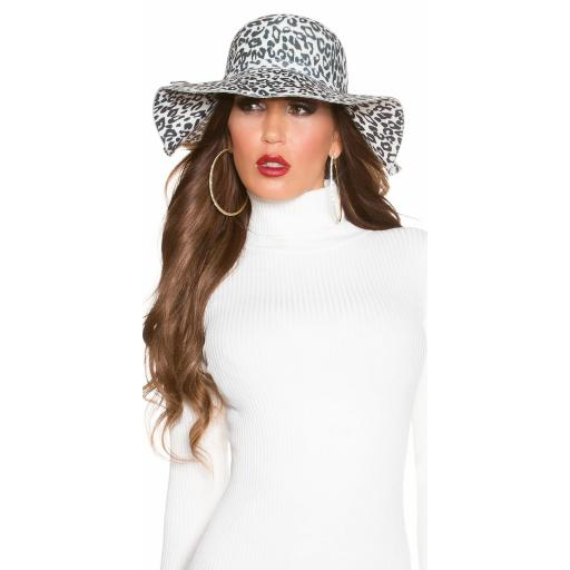 Sombrero animal print blanco [3]
