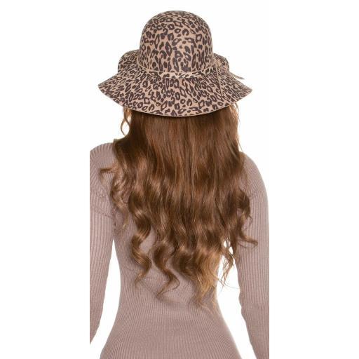 Sombrero animal print beige [1]