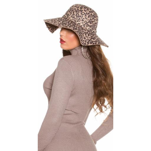 Sombrero animal print beige [3]