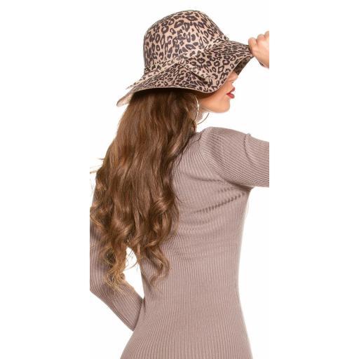 Sombrero animal print beige [2]