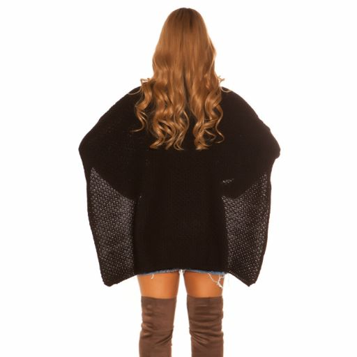 Suéter tipo poncho negro [2]