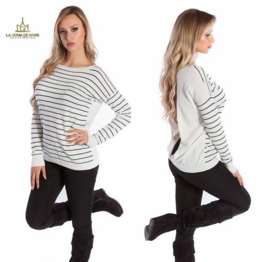 Suéter blanco escotado por detrás [2]
