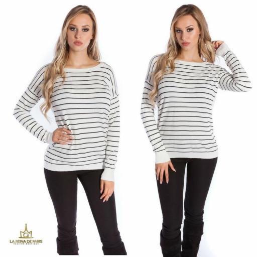 Suéter blanco escotado por detrás [3]