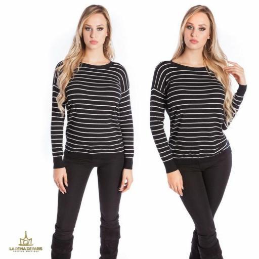 Suéter negro escotado por detrás [3]