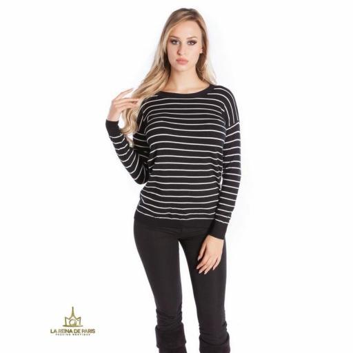 Suéter negro escotado por detrás [2]