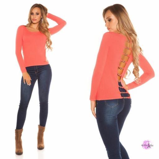 Suéter minimalista coral [1]